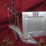 Suport bijuterii in forma de pantof + rama foto la doar 15 ron - Inel argint
