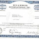 391 Actiuni -BUN&BURGER INTERNATIONAL, INC.-seria B 792