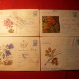 Set 6 Plicuri Post. Ilustrate - Tematica - FLORA -1964-1972 - Plic Papetarie
