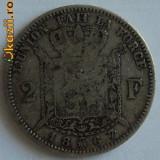 2 francs 1867 Belgia, argint