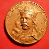 Medalii Romania - PLACHETA STEFAN cel MARE -500 ANI de la moarte-1904