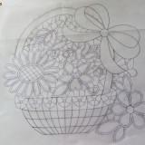 Schita cos cu flori 2 - model laseta -