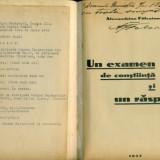 Din zile grele Un examen de constiinta si un raspuns-Alexandrina Falcoianu - Carte de lux