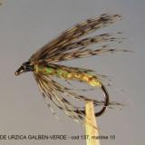 Momeala artificiala Pescuit - Muste artificiale pt. pescuit - MUSCA DE URZICA GALBEN-VERDE - Nettle yellow - Breneszel gelb - Sargazold csalan legy