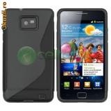 Husa Samsung i9100 i9105 Galaxy SII s2 plus + folie + stylus - Husa Telefon Samsung, Negru, Gel TPU