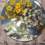 Farfurie decorativa WEDGOOD ~~ MEADOW BOUQUETS ~~ - Portelan
