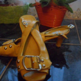 Sandalute galbene super comode - Sandale dama, Marime: 35.5, Bronz