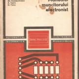 (C1192) MANUALUL MUNCITORULUI ELECTRONIST DE RISTEA, CONSTANTINESCU, VASILE, TETCU, EDITURA TEHNICA, BUCURESTI, 1980