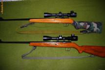Vand doua arme Geco Cugir, arme de tir cu glont, calibrele 5.65 x 26 (. 22 WMR )   si .22 LR cu lunete noi, Bushnell si Tasco foto