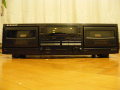 Casetofon deck dublu, PIONEER, dolby B+C, model CT-W4000