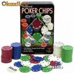 Set Casino Texas Hold`Em Poker cu 100 de Jetoane - Set poker