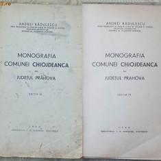 Carte Editie princeps - Radulescu, Monografia comunei Chiojdeanca, jud. Prahova, 1940