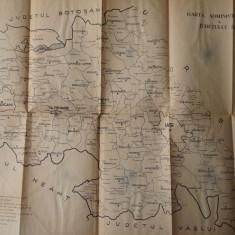 Carte Editie princeps - Delimitarea municipiului Iasi, a oraselor si comunelor din jud. Iasi, 1968