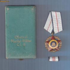 ORDINUL MERITUL MILITAR CL.3 RPR+BREVET+CUTIE