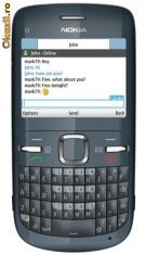 Telefon mobil Nokia C3, Albastru, Neblocat - Nokia C3 - 00 slate grey nou, achizitionat ianuarie 2011