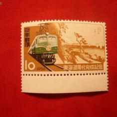 Timbre straine - SERIE- LOCOMOTIVA 1956 JAPONIA, 1 valoare