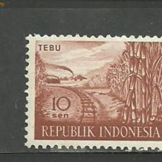 Timbre straine, Asia, Transporturi - Indonezia - LOCOMOTIVE, timbru nestampilat B10