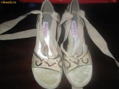 Sandale dama, de vara, talpa ortopedica, mar. 38, Marime: 36.5, Argintiu
