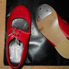 TAPPERS@POINTERS -PANTOFI DE DANS PT. FETITE, NR. 24, STARE PERFECTA, GERMANIA - Pantofi copii, Culoare: Rosu, Fete