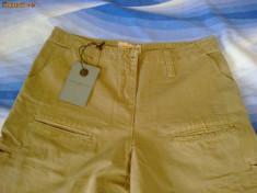 Pantaloni dama, Lungi, Bej, Bumbac - Pantalon sport de dama