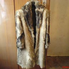 HAINA BLANA NATURALA DE ENOT - Palton dama, Marime: 44