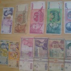 Vand bani vechi pentru colectie din anii 1994, 1993, 1992, 1989. - lot colectie