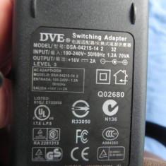 Alimentator Incarcator Switch DVE DSA-0421S-14 16V 2A + Cablu Alimentare