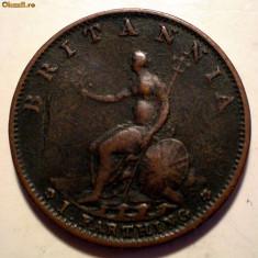 C.178 MAREA BRITANIE GEORGE III FARTHING 1799 - Moneda Medievala, Europa