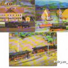 CP - Ilustrate Trenulete electrice cu diorama - Lot 6 buc. / Necirculate / F129