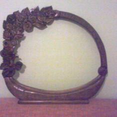 Oglinda din lemn - Oglinda living