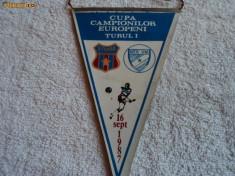 Fanion fotbal STEAUA Bucuresti - MTK Budapesta 16.09.1987