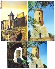 Carti Postale Romania dupa 1918 - Targoviste-Curtea Domneasca, Turnul Chindiei LOT 3 ilustrate postale