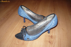 Sandale dama - Sandale, pantofi din jeans, blugi, AFRODITA, nr. 38