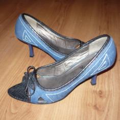 Sandale, pantofi din jeans, blugi, AFRODITA, nr. 38 - Sandale dama