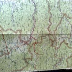 Harta Turing Clubul Roman - interbelica - nr 16 - vatra dornei, toplita, gheorgheni