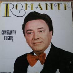 Constantin Cocris romante te am iubit disc vinyl Muzica Populara electrecord lp epe 1903, VINIL