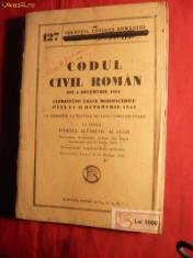 Carte juridica - Codul Civil Roman 1864 cu modificarile pana la 1943
