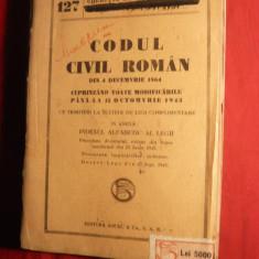 Codul Civil Roman 1864 cu modificarile pana la 1943