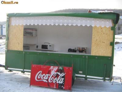 Rulota comerciala, fast food ,dublu ax-AFACERE PE ROTI foto