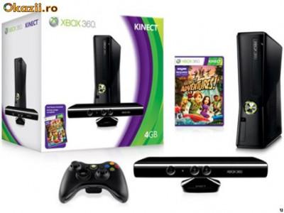 Consola XBOX 360 4G   Kinect Senzor   Joc Adventurer In cutie foto