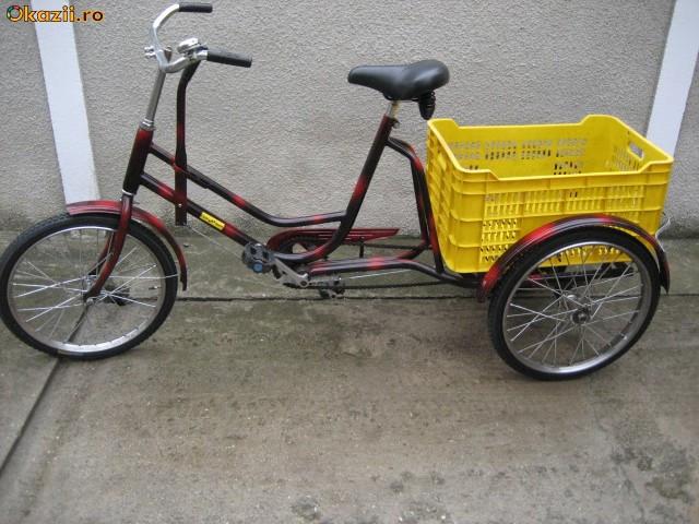 Tricicleta pentru adulti,bicicleta cu trei roti foto mare