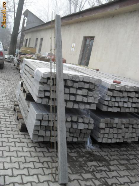 Vand spalier pentru vie din beton 2.40m foto mare