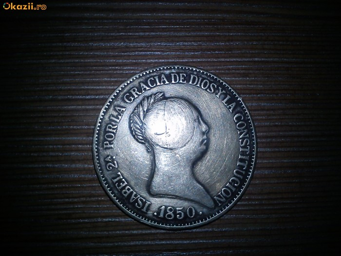monezi vechi de argint(spania) foto mare