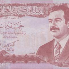 bnk bn irak 5 dinari 1992 necirculata