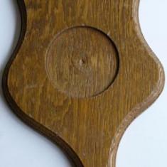 Metal/Fonta - Suport din lemn pentru pahare din zinc