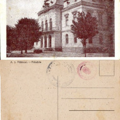 Carti Postale Romania dupa 1918, Necirculata, Printata - Falticeni ( jud. Suceava, Bucovina ) -Primaria