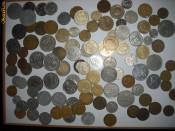 vand colectie de bani vechi monede foto