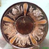 Farfurie ornamentala din arama.