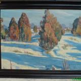 Tablou de iarna imresionist - Pictor roman