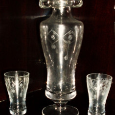 Set / Serviciu pahare - tarie / coniac - cristal - 6 persoane